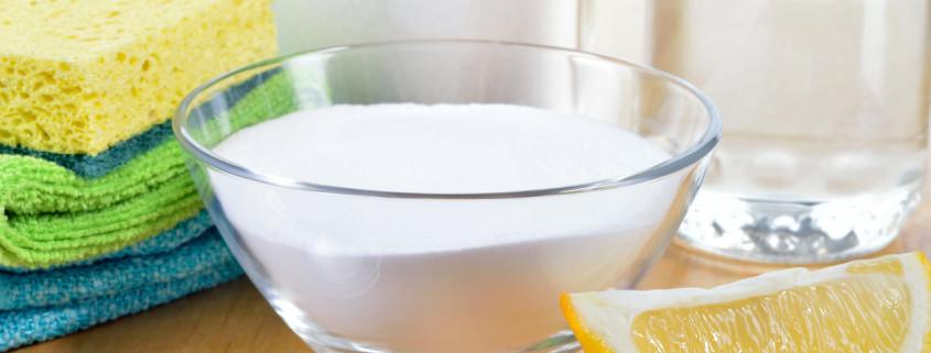 Lemon, baking soda, vinegar, salt as natural house cleaner