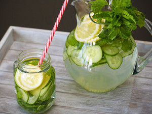 acqua limone cetriolo