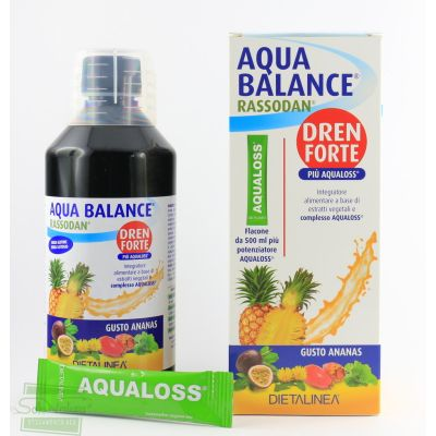 AQUA BALANCE RASSODAN DREN FORTE gusto ananas 500 ml DIETALINEA