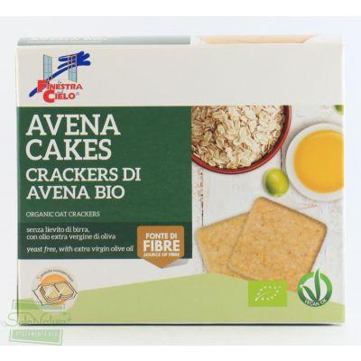 AVENA CAKES  CRACKERS DI AVENA BIO 250 gr LA FINESTRA SUL CIELO