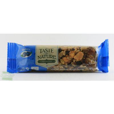 BARRETTA  AL MIRTILLO  40 gr TASTE OF NATURE