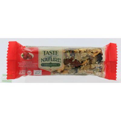 BARRETTA AI CRANBERRIES MIRTILLI ROSSI 40 gr TASTE OF NATURE