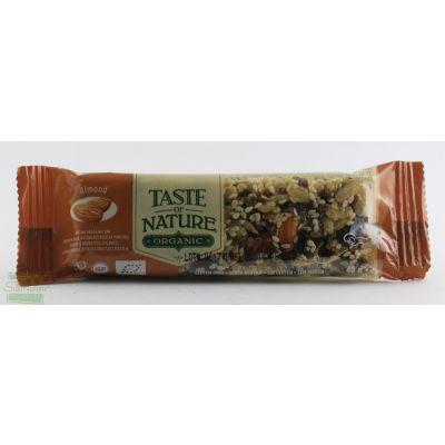 BARRETTA ALLE MANDORLE 40 gr TASTE OF NATURE
