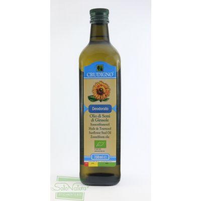 CRUDIGNO OLIO DI SEMI DI GIRASOLE DEODORATO 750 ml ORGANIC OILS