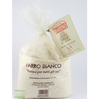 FARINA FARRO BIANCO 1 kg MULINO MARINO