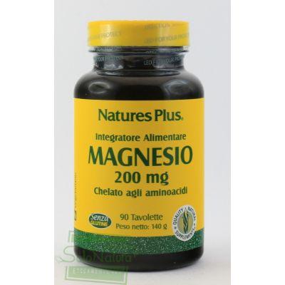 MAGNESIO INTEGRATORE ALIMENTARE  90 TAVOLETTE 200 mg LA STREGA NATURE'S PLUS