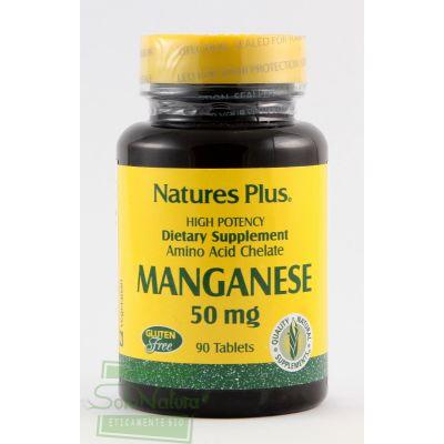 MANGANESE INTEGRATORE ALIMENTARE 50 mg  90 tavolette LA STREGA NATURE'S PLUS