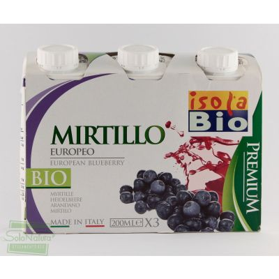 PREMIUM SUCCO MIRTILLO 3X200 ml ISOLA BIO