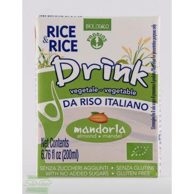 RICE&RICE BEVANDA VEGETALE DI RISO ALLA MANDORLA 200 ml PROBIOS