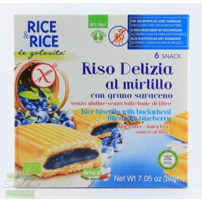 RICE&RICE RISO DELIZIA MIRTILLO E GRANO SARACENO MERENDINE 200 gr PROBIOS